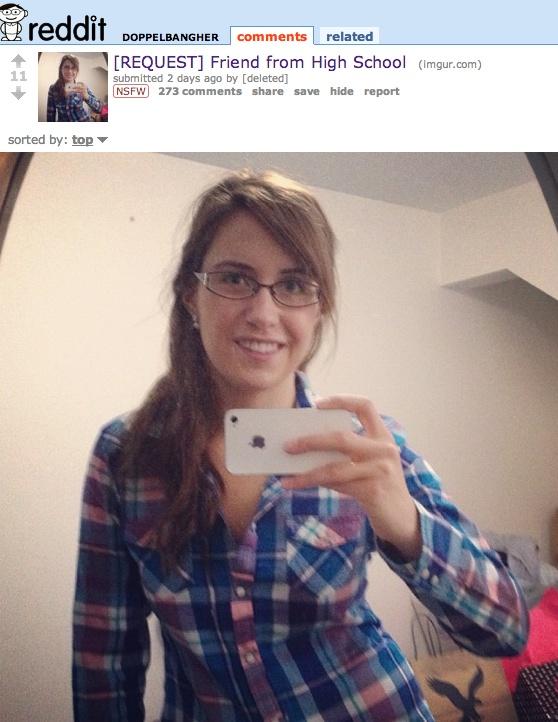 "Redditor seeking ""porn doppelganger"" of high school friend gets response from friend herself."