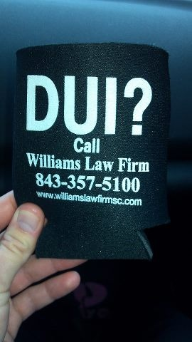 Law firm chooses least appropriate way to advertise drunk driving services.