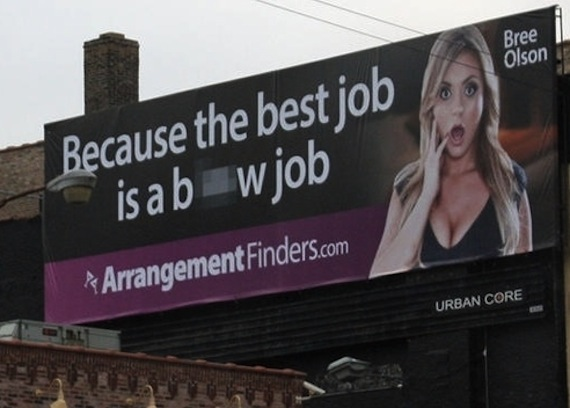 Porn star appears on Chicago billboard in ad that confirms moral decay no longer confined to Internet.