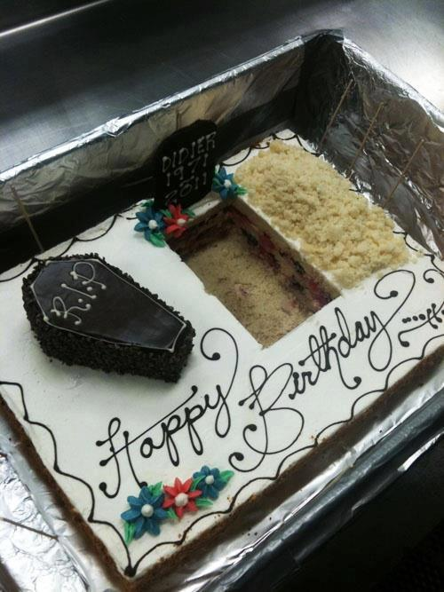The most morbid birthday cake of all time.