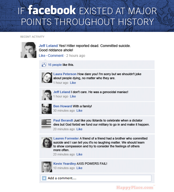 If Facebook existed at major points throughout history.
