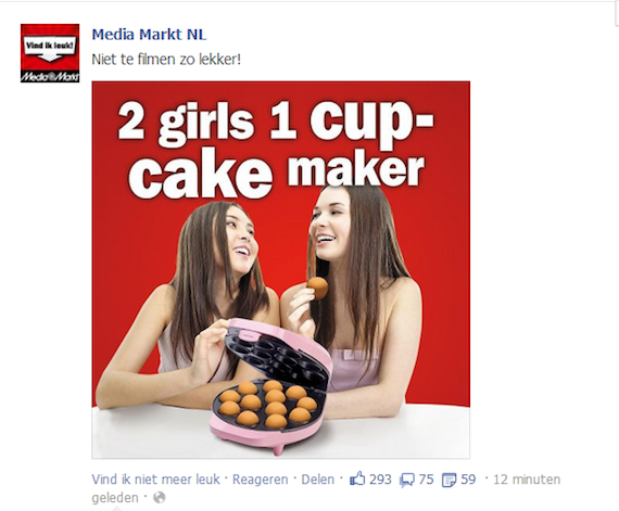 "Someone is trying to use ""2 Girls 1 Cup"" to get people into baking."