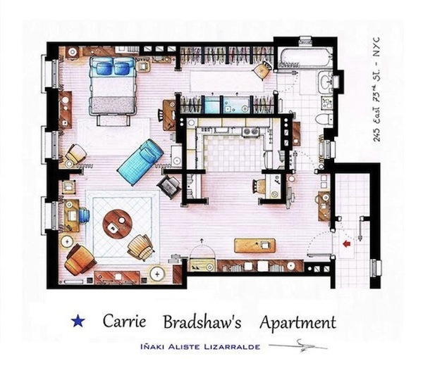 Floorplans Of Apartments And Houses From Your Favorite Television ...