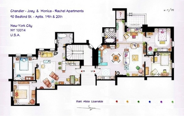 Floorplans of TV show homes will make you feel better about your own addiction to TV (but not your home).
