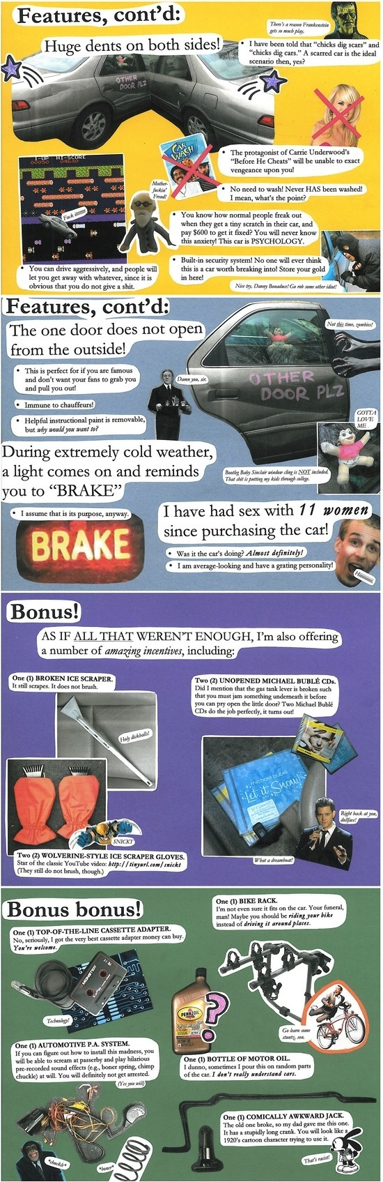 The Most Creative Used Car Ad Ever On Craigslist | Someecards Automotive
