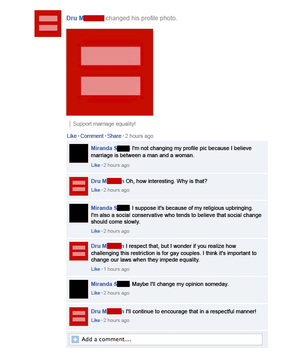 10 of the best instances of people with different viewpoints having reasonable, tolerant discussions on Facebook.