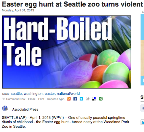 Moms discover true meaning of Easter during bloody Easter egg hunt brawl.