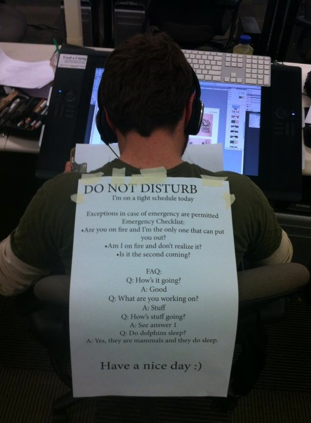 """How to make a """"Do Not Disturb"""" sign that will actually let you get work done."""