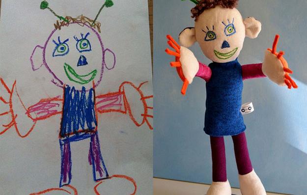 Wonderful, horrible children's toys based on children's drawings.