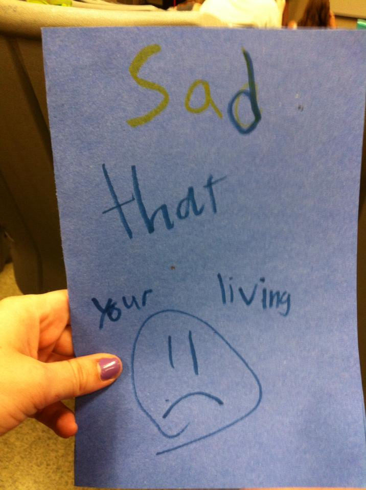 first graders reveal true feelings to teacher on her last day