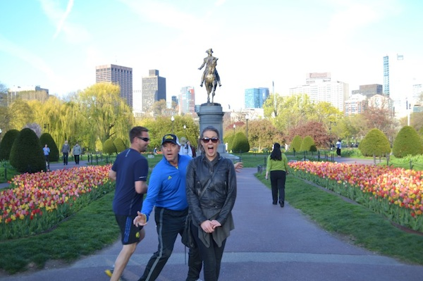 A jogging Kevin Spacey photobombs a woman in Boston, and it's not too soon.