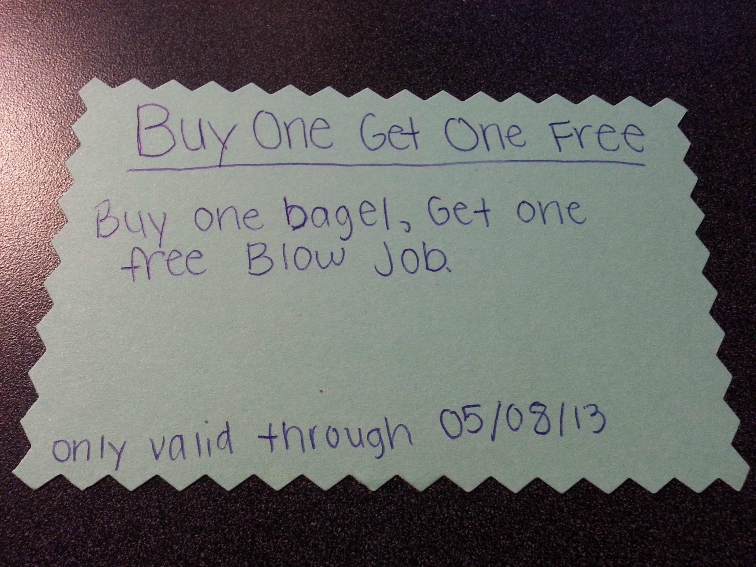 A woman forgot her wallet, so she gave her boyfriend who works in the same building the ultimate coupon.
