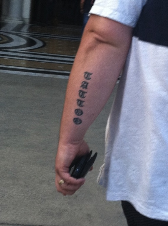 The most pointlessly redundant tattoo ever.