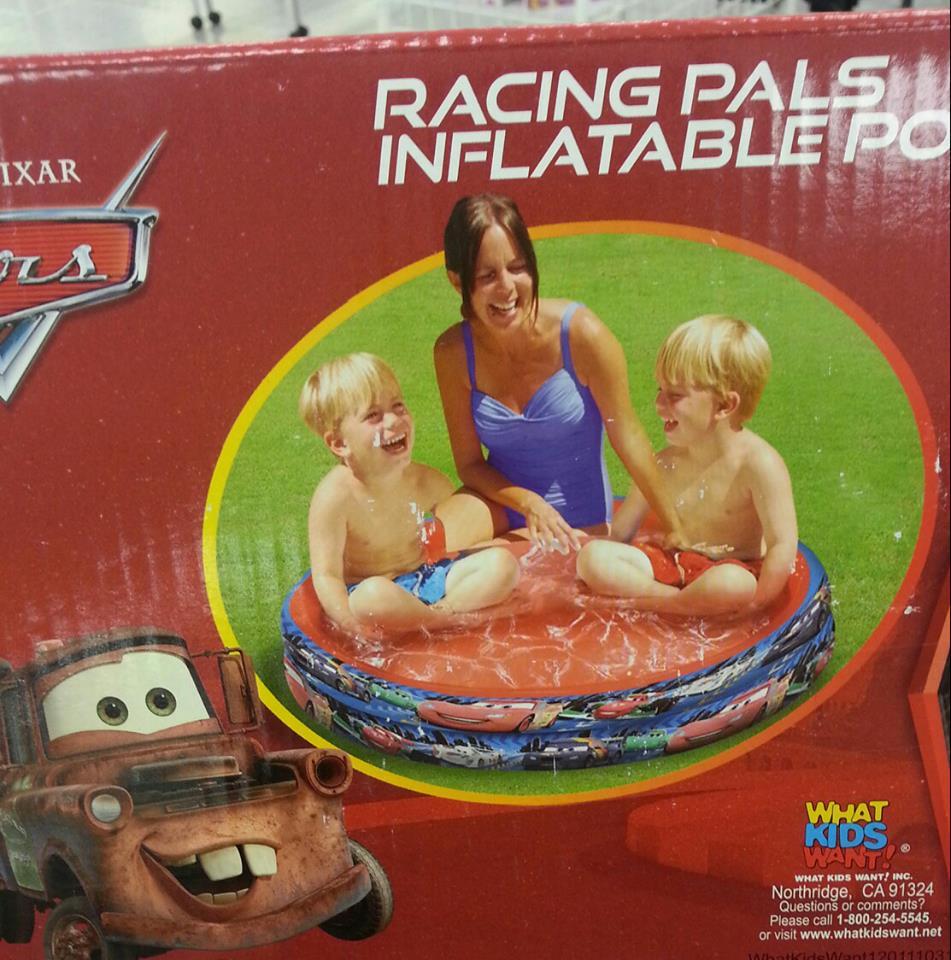 Pixar-branded kiddie pool has phenomenally terrible photoshop error.