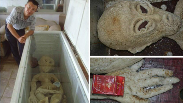 Chinese man fools China's Twitter with claim to have electrocuted the fakest alien ever.