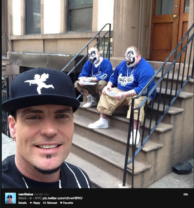 Vanilla Ice tweets out everything that is wrong with music in a single selfie.