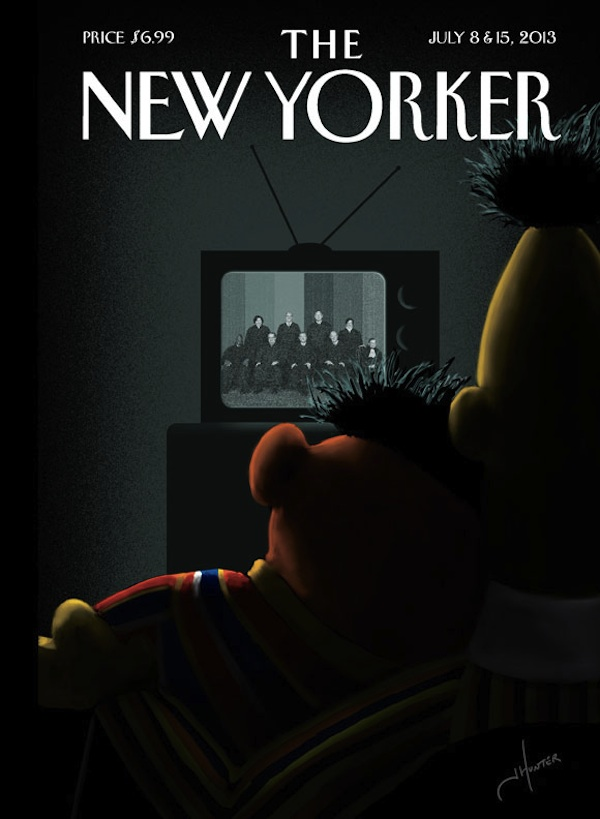 "The amazing cover of the next ""New Yorker"" issue will feature everyone's favorite gay Muppet couple."