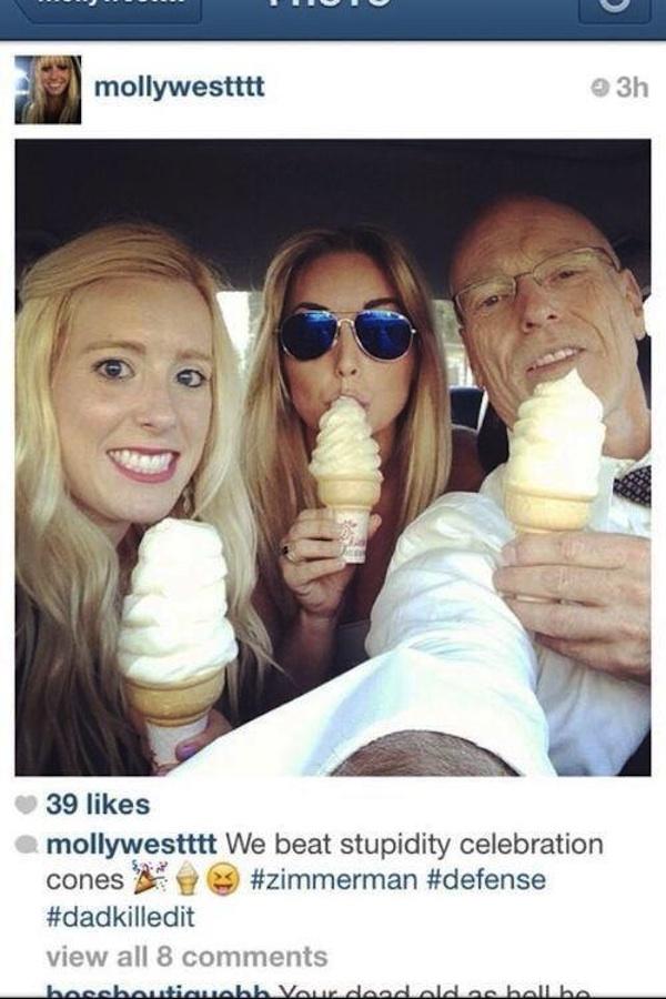 George Zimmerman's hack lawyer took a mid-murder trial break to take a selfie eating ice cream.