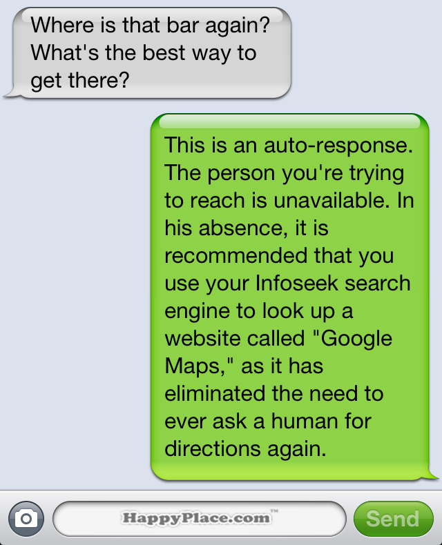 Funny auto text reply