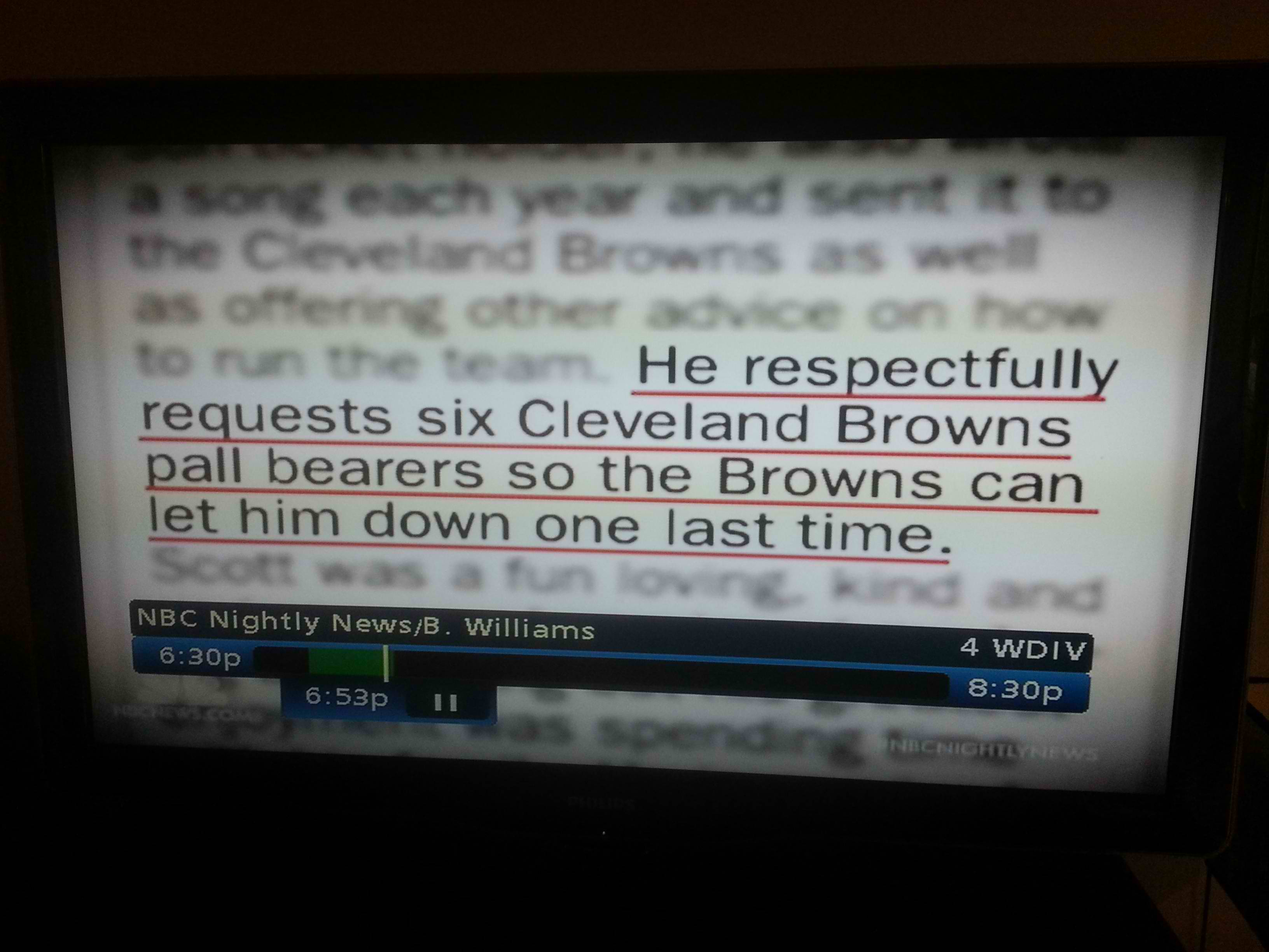 Ohio man's obituary throws one last insult at the Cleveland Browns. The Browns respond in an awesome way.