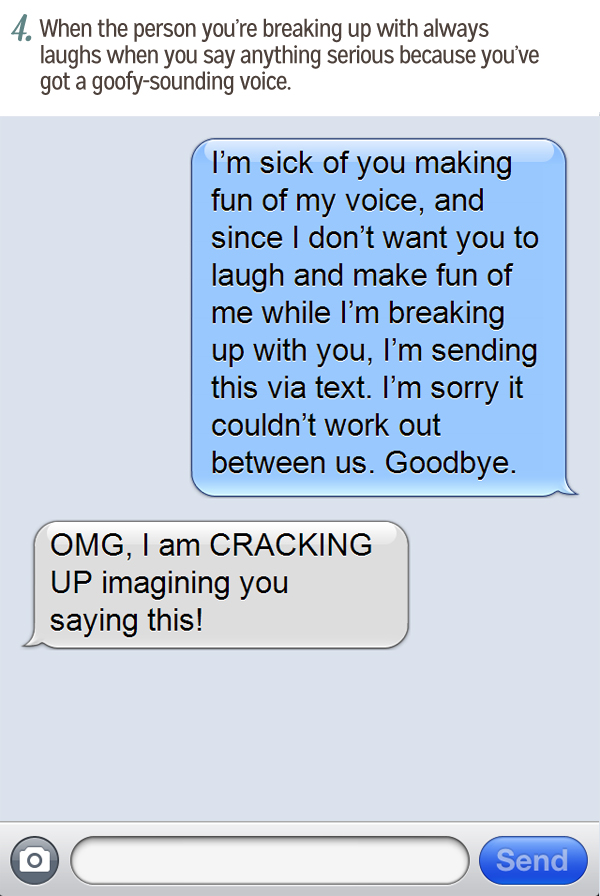 How to break up with someone by text