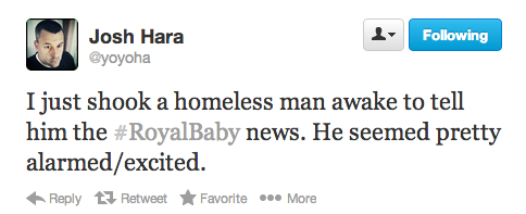 25 of the funniest tweets reacting to the birth of the Royal Baby.