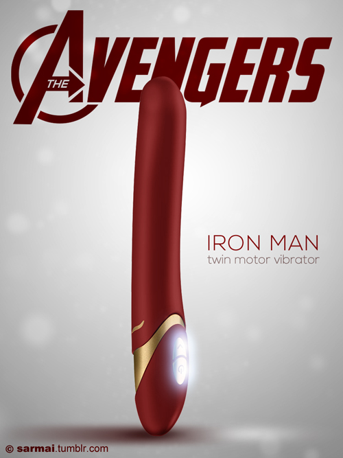 Artist designs 6 different Avengers-themed dildos, one for each superhero.