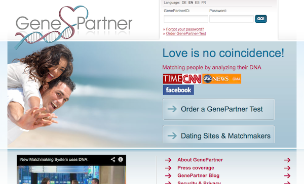 This totally scientific dating site helps people find love based on their DNA.