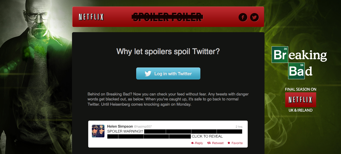 A brilliant new app that blocks spoilers from your Twitter feed.