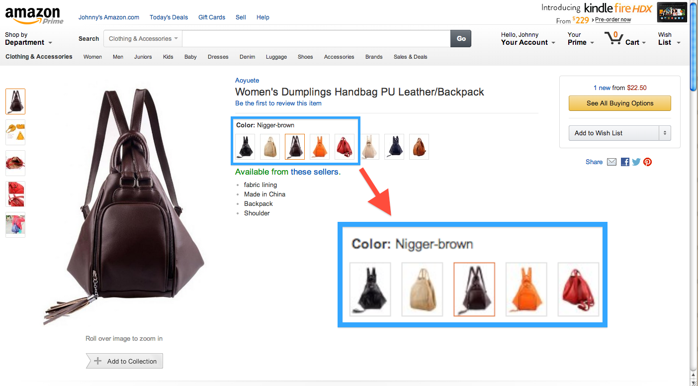 What the f**k, Amazon? Can you seriously not keep the n-word out of product listings?