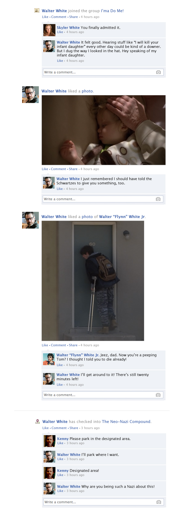 If the Breaking Bad finale had taken place entirely on Facebook.