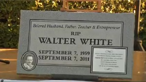 """Charity organizes funeral for one of the characters on """"Breaking Bad,"""" unwisely puts it in real cemetery. (Spoiler)"""