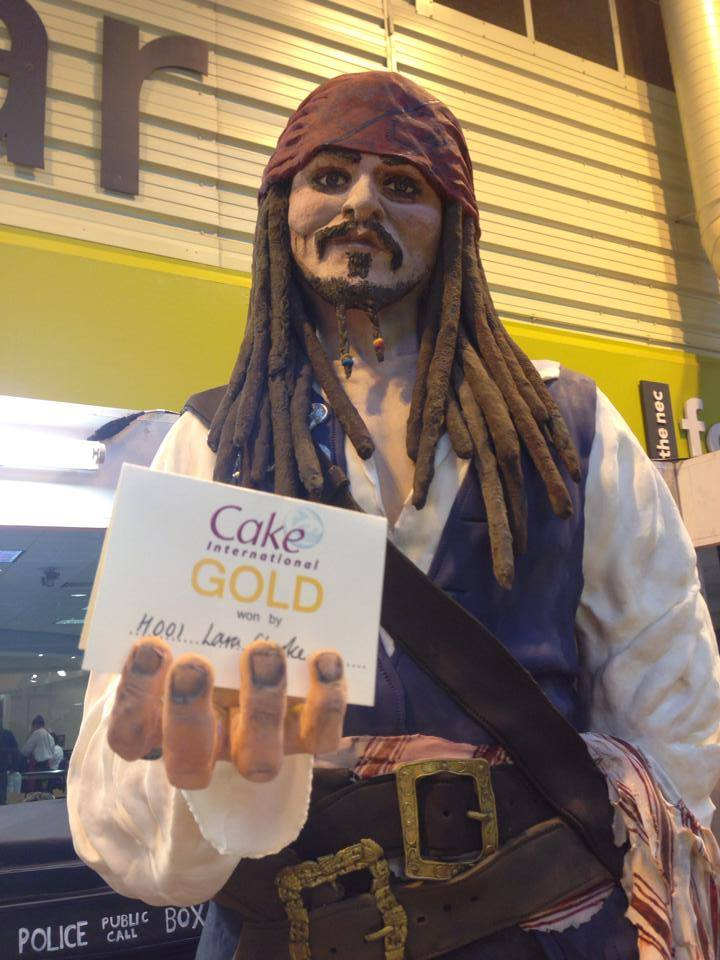 Update: That woman who spent 90 hours baking a life-size Johnny Depp cake took home the gold.