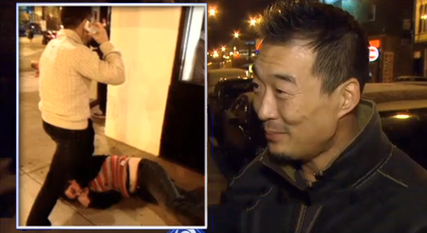 This thief got knocked the eff out by a restaurant owner after stealing an iPhone from a customer.