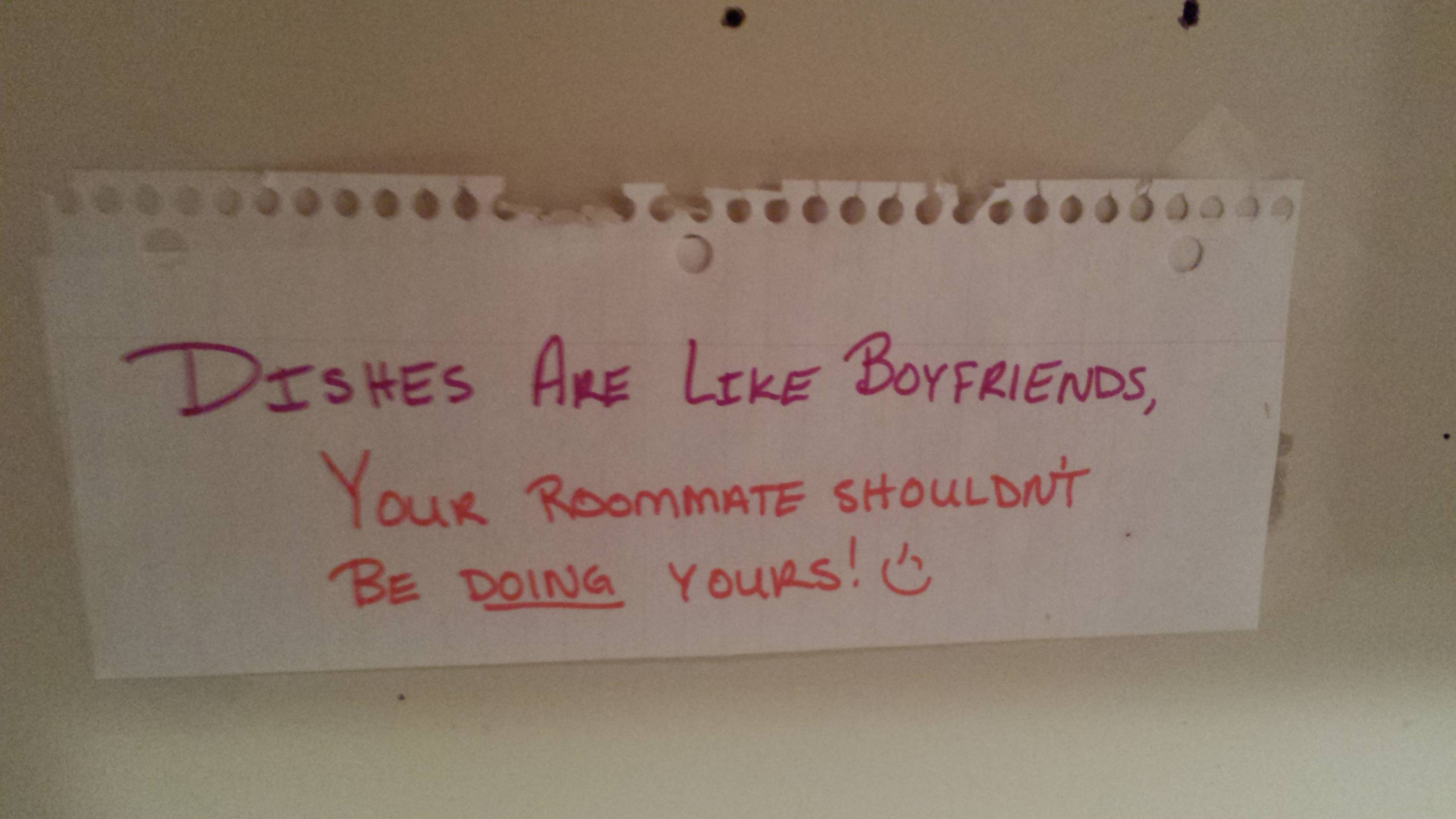 writing a note to your boyfriend