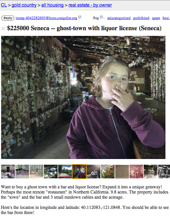 Someone just put an entire town up for sale on Craigslist. It's creepy as hell.