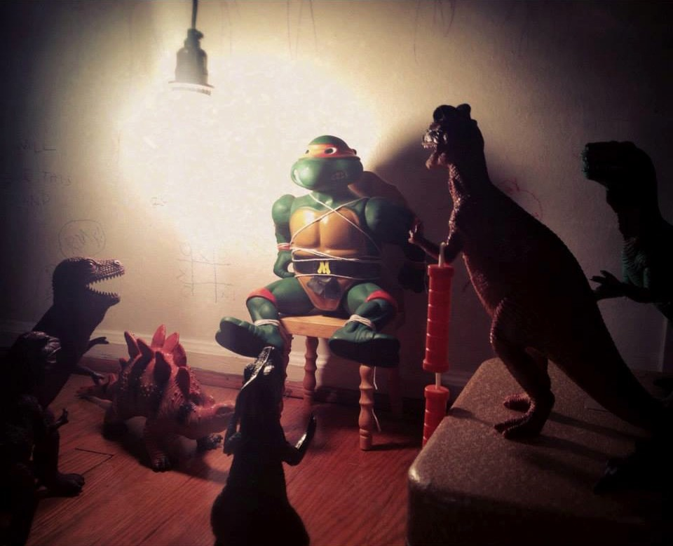 Dinovember: these parents spend one month every year convincing their kids their dinosaurs come to life at night.