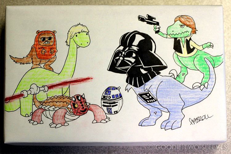 A guy who sells t-shirts will draw anything you want on the box. Here are some of the awesome drawings he's done.