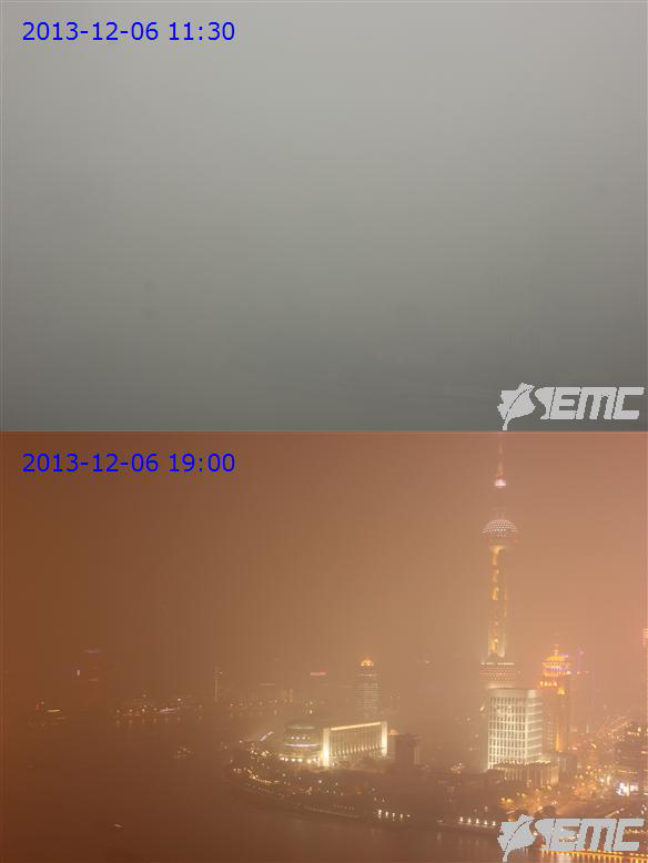 China is experiencing the worst air pollution in history today. These photos might actually make you cough.
