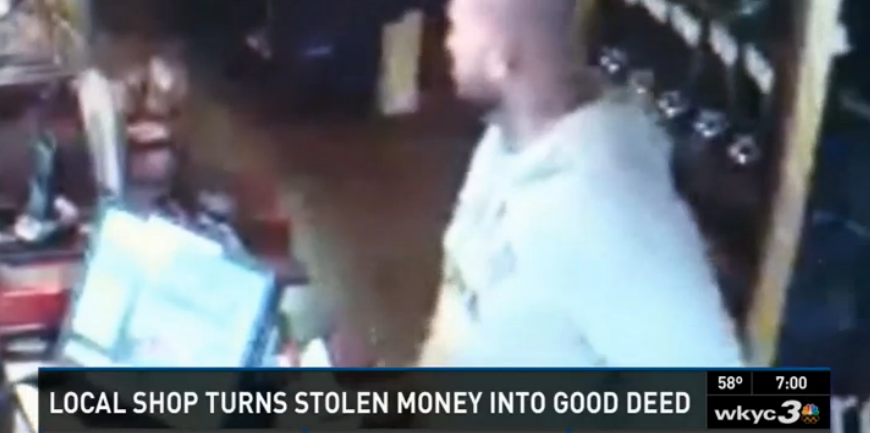 A guy got caught stealing from a coffee shop's tip jar. Instead of calling the police, the employees held a food drive for him.
