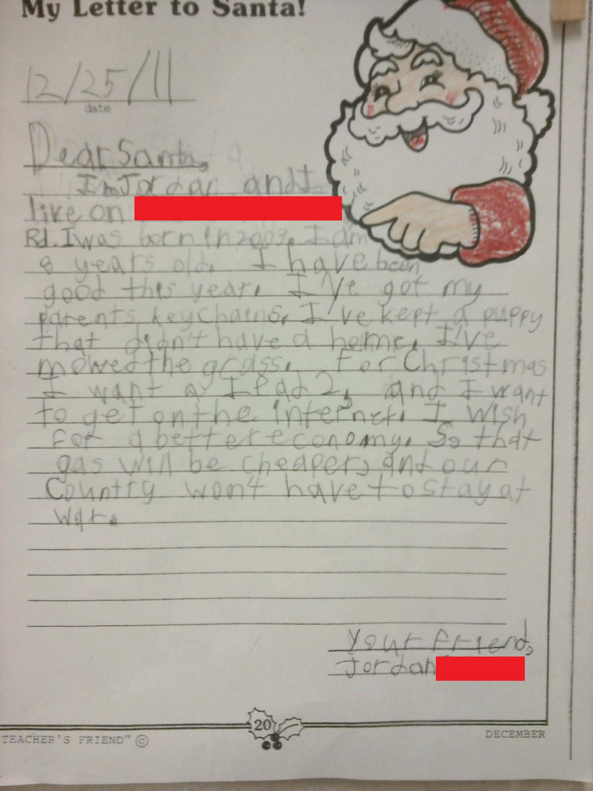 Kids Who Got Really Specific And Really Weird In Their Letters To
