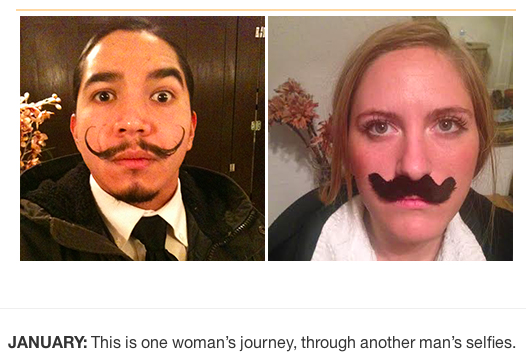 This woman has spent a year reenacting the selfies of the thief who stole her phone last New Year's Eve.