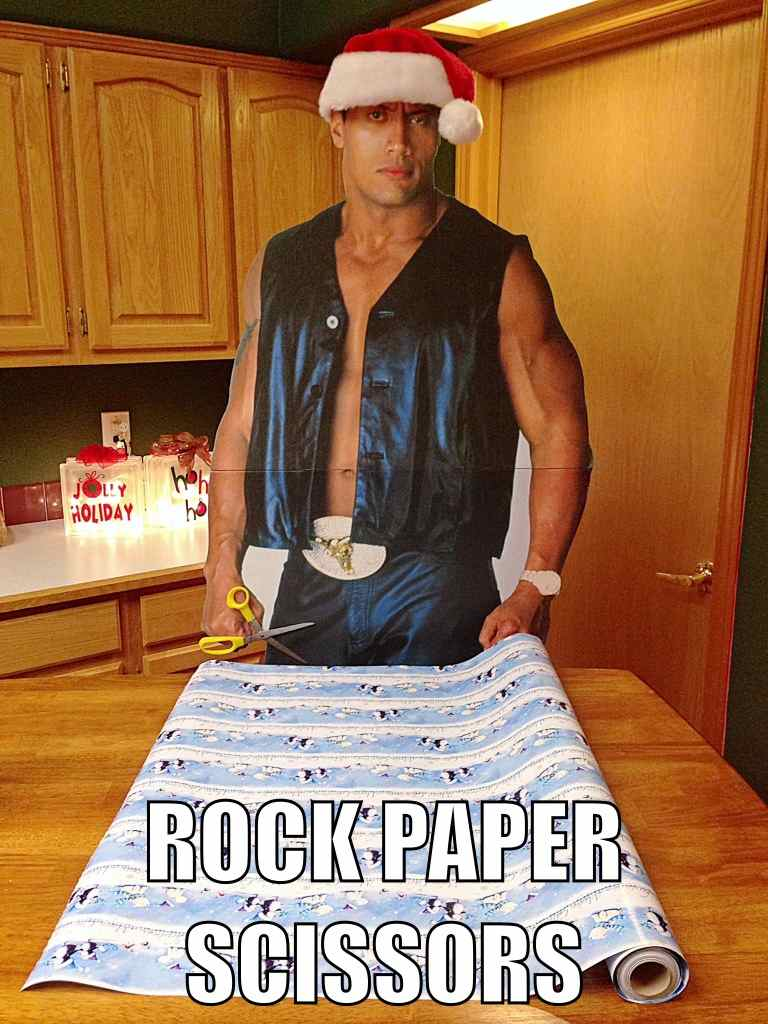 Family uses cardboard cutout of The Rock to create every pun you can think of.