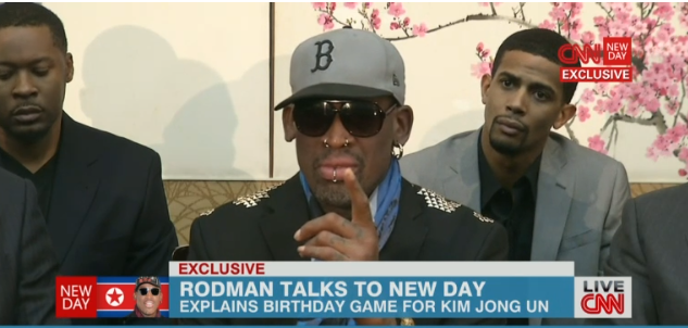 Dennis Rodman just launched an insane, screaming rant from North Korea live on CNN.
