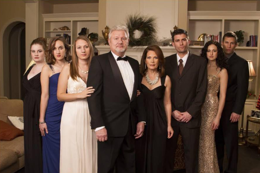 Michele Bachmann's family does its best 'Downton Abbey.'
