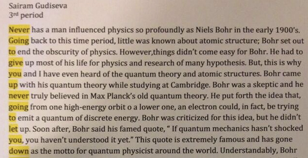 This student gets an A+ in Rickrolling his physics teacher.