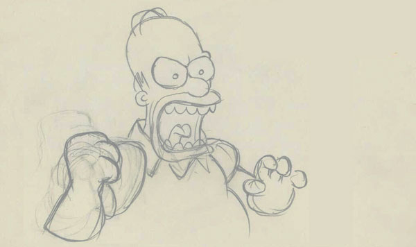"""An illustrator for """"The Simpsons"""" is tweeting some really fantastic early sketches from the show."""
