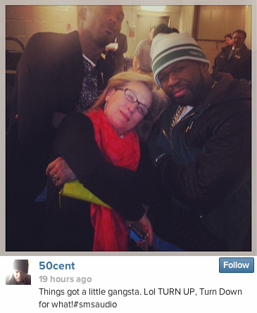 "50 Cent, Meryl Streep, and Kobe Bryant took an adorably ""gangsta"" portrait this weekend."