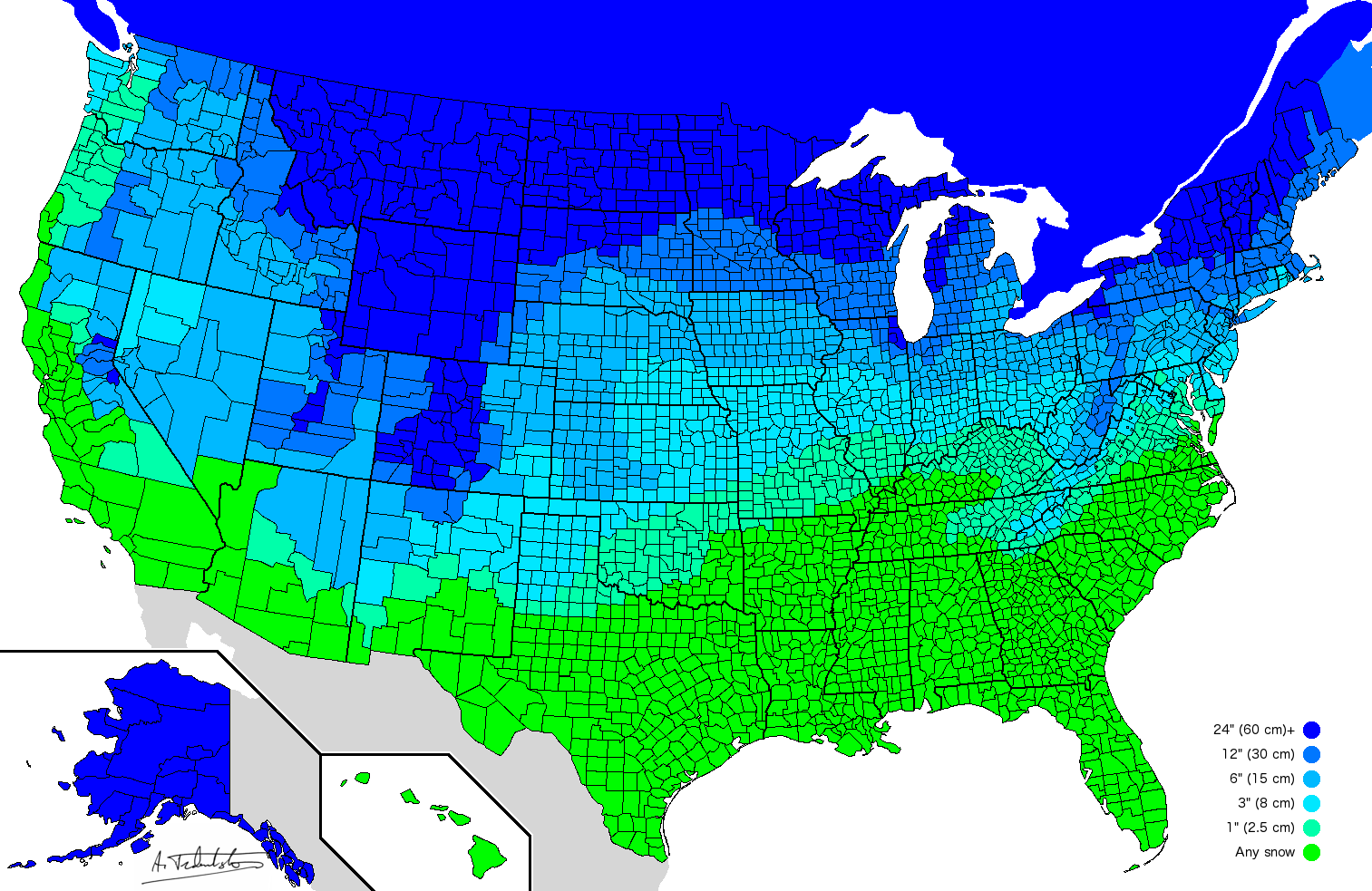 Here S How Much Snow It Takes To Get A Snow Day In Every Part Of The Country