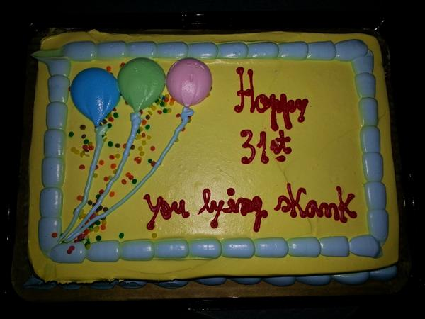 Brutally honest cake shows why you shouldn't lie about your age at work.